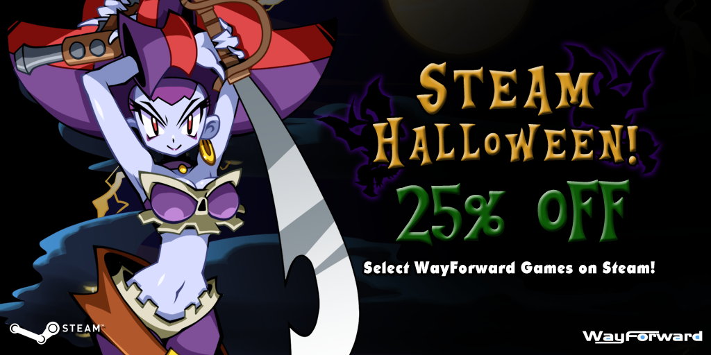 Time for the Steam Halloween Sale 2017!   WayForward